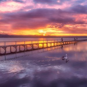 Colourful Long Jetty Sunset