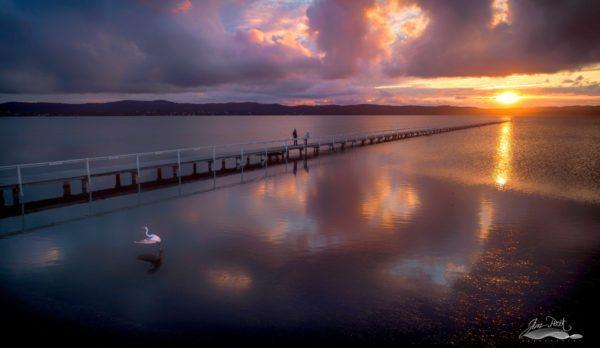 Peaceful Long Jetty Sunset