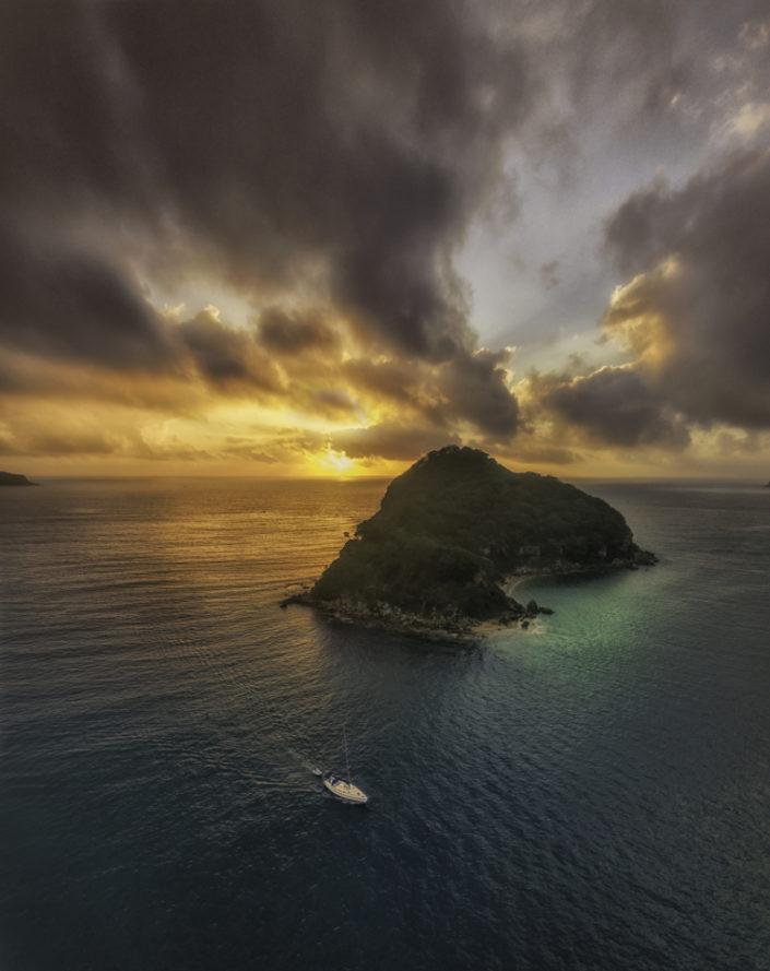 Stunning Lion Island Sunrise