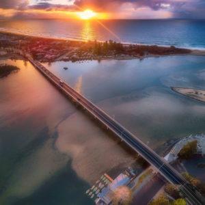 Sunrise Over The Entrance Bridge