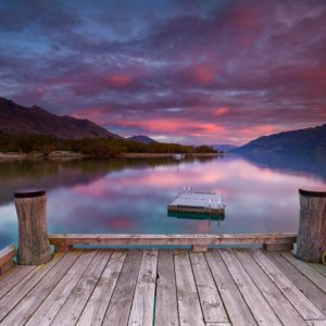 Glenorchy Peaceful Sunset New Zealand