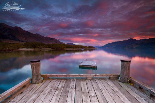 Glenorchy Peaceful Sunset New Zealand