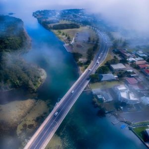 Morning Fog at The Entrance Channel