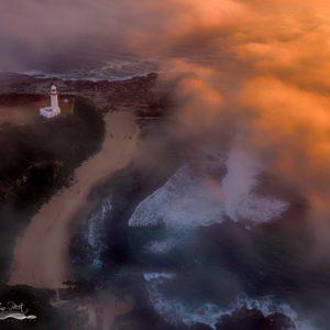 Norah Head Lighthouse Sunrise Fog