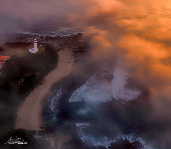 Norah Head Lighthouse Sunrise Fog