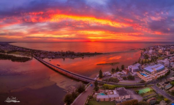 Stunning Sunrise at The Entrance Channel