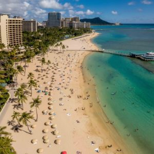 Sun and Surf at Waikiki Beach Hawaii