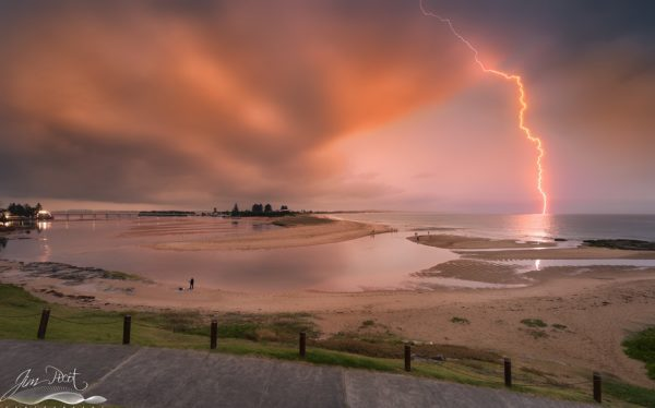 Sunset Storm The Entrance Channel