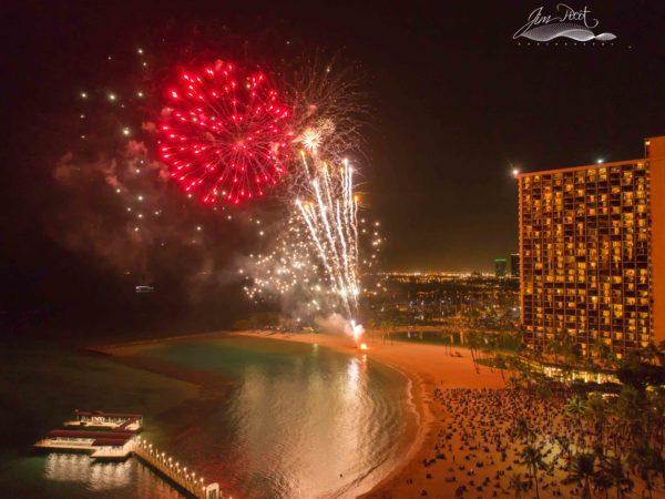 Waikiki Fireworks Hawaii